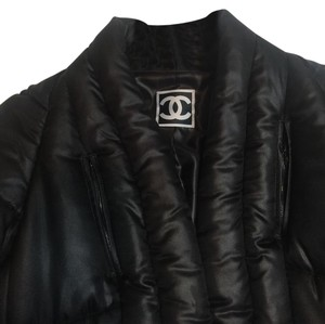 Chanel Silk Puffy Unique Fashin Show Black Jacket