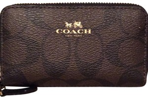Coach Coach SMALL DOUBLE ZIP COIN CASE