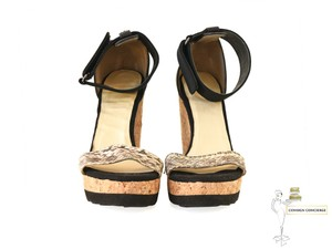 Jimmy Choo Black/Creme Wedges