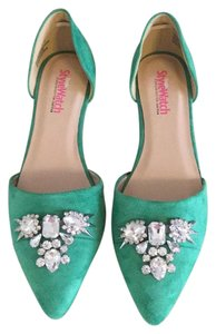 JustFab Emerald Green Flats