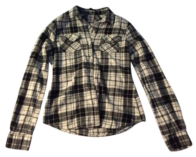 Mossimo Supply Co. Button Down Shirt Black And White