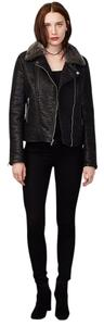 Rachel Roy Leather Motocycle Roy Faux Fur Leather Jacket