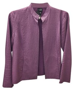 Eileen Fisher Silk Quilted Purple Jacket