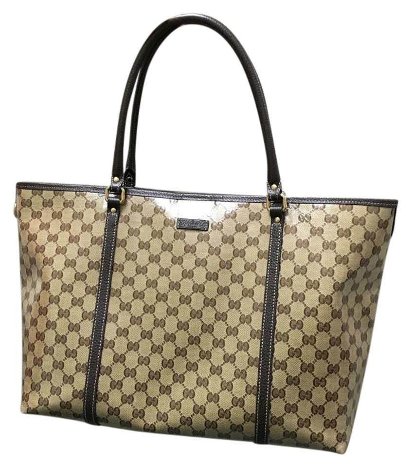 2e2532794ce Gucci 265696 Large Crystal Guccissima Gg Joy Purse Brown Coated ...