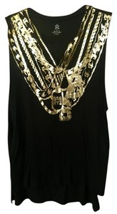 Barry's Bootcamp Barry's Chain Super Soft Muscle Top Black / Gold