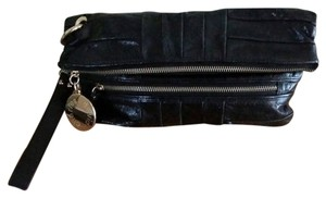 Charles David Leather black Clutch