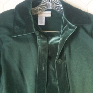 Coldwater Creek short dress Dark green 3 Piece Knit Jacket Skirt on Tradesy