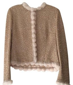 Escada Top Gold and white