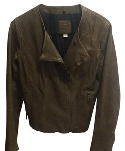Banana Republic Olive Leather Jacket