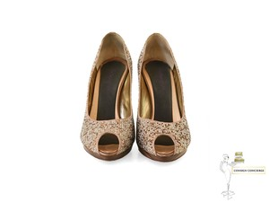 Rene Caovilla gold/bronze Pumps