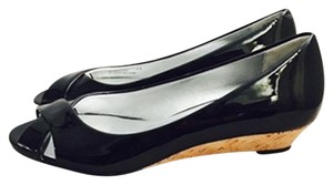 Cole Haan Air Elly Air Black Patent Leather Wedges
