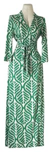 Green and white leaf print Maxi Dress by Diane von Furstenberg