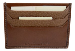 Burberry Burberry Unisex London Leather Card Case - Brown