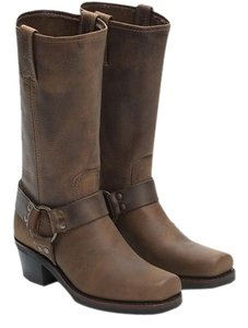 Frye Leather Midcalf Brown / Tan Boots