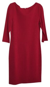 St. John Red Beads Dress