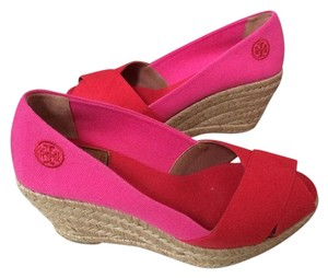 Tory Burch Red/pink Wedges
