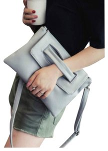 veevan Clutch Detachable Strap Gray Cross Body Bag
