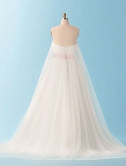 Alfred Angelo White/Tea Rose 220 Formal Wedding Dress Size 10 (M)