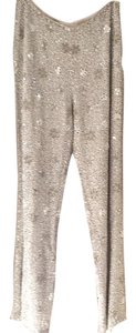 Escada Wide Leg Pants Silver