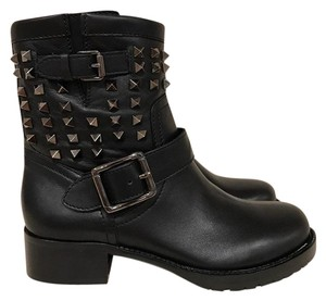 Valentino Rockstud Stud Studded Leather black Boots