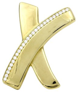 Tiffany & Co. Tiffany & Co. Paloma Picasso Signature X Large Diamond Gold Brooch
