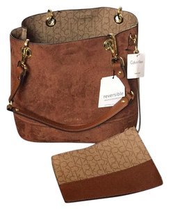 Calvin Klein Tote in Brown And Print