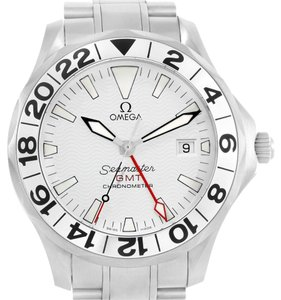 Omega Omega Seamaster GMT White Wave Pattern Dial Steel Watch 2538.20.00