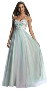 Dave & Johnny Strapless Ball Gown Lace Prom Dress