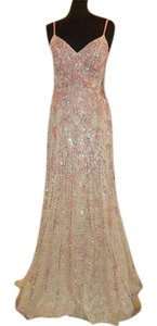 May Queen Strappy Fitted Mermaid Prom Beaded Dress
