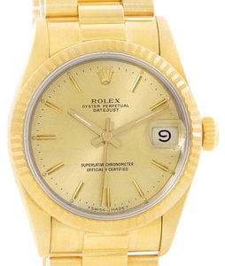 Rolex Rolex President Datejust Midsize 18K Yellow Gold Watch 68278