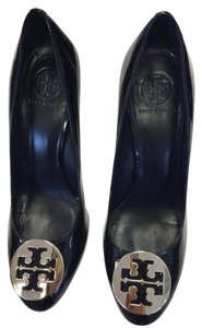 Tory Burch Patent Patent Leather Platform Black Pumps