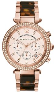Michael Kors NWT Parker Chronograph Rose Dial Rose Gold Watch