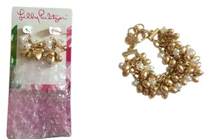 Lilly Pulitzer Limited edition pearl earring and bracelet set