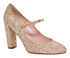 Kate Spade Glitter Mary Janes Gold Pumps