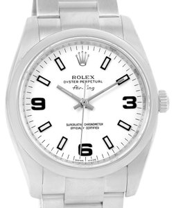 Rolex Rolex Air King White Dial Stainless Steel automatic Watch 114200