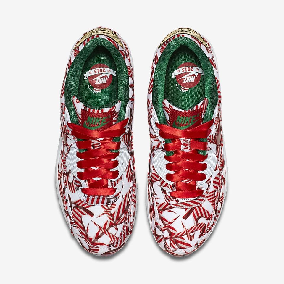 4fd89b04a6 Nike Air Max 90 Qs Christmas White University Red Metallic Gold Limited  Edition 2015 Pack Sneakers