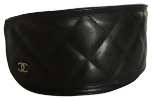 Chanel Chanel Classic CC Black Quilted Leather XL Sunglass Case