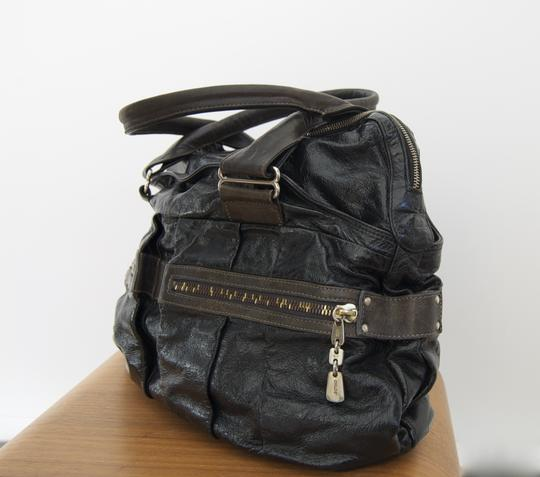 See by Chloé Handbag Leather Handbag Leather Handbag Handbag Cool Handbag Edgy Handbag Everyday Handbag Luxury Brands Satchel in Black and Graphite