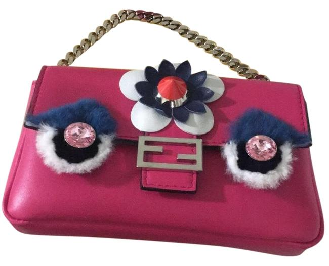 Item - New Nappa Mini Monster Pink Leather Baguette