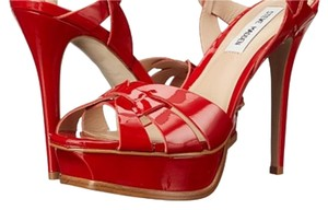 Steve Madden Red leather Platforms