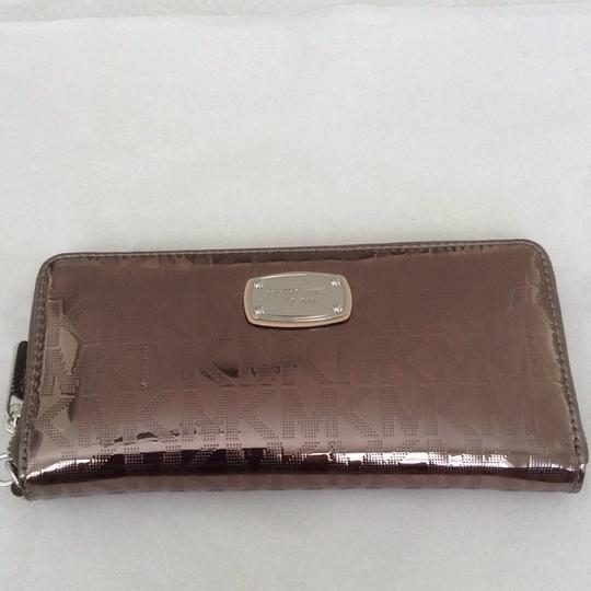 4dd4e530742f Michael Kors NEW Michael Kors Jet Set Travel Continental Nickel Metallic  Wallet Image 9