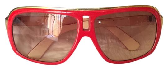 Green Dragon Dragon the jam- red and gold retro sunglasses