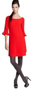 Kate Spade Red Crepe Ruffle Sleeve Dress Dress