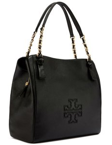 Tory Burch Tote in Black and Gold