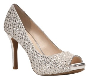 Audrey Brooke Silver Pumps