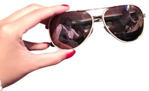 Chanel Pink Silver Side Chains w/ Mirrored Lens Aviators
