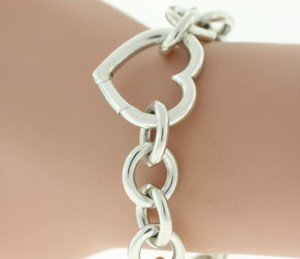 Tiffany & Co. Tiffany & Co. Heart Clasp Chain Bracelet- Sterling Silver