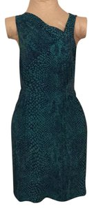 Jennifer Lopez short dress Aqua and black python print. on Tradesy