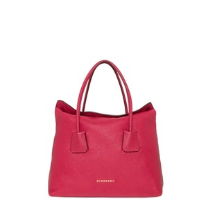 Burberry Leather Baynard Tote in Pink