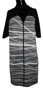 Misook Abstract Printed Dress